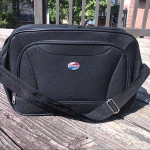 American Tourister Fieldbrook II black luggage.